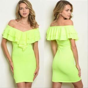Dresses & Skirts - NEON BODYCON DRESS * womens women new dresses *